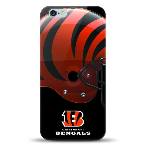 [MIZCO] Apple iPhone 6/6S (4.7 inch) Case, Helmet Series NFL Licensed [Cincinnati Bengals] Slim & Flexible Anti-shock Crystal Silicone Protective TPU Gel Skin Case Cover