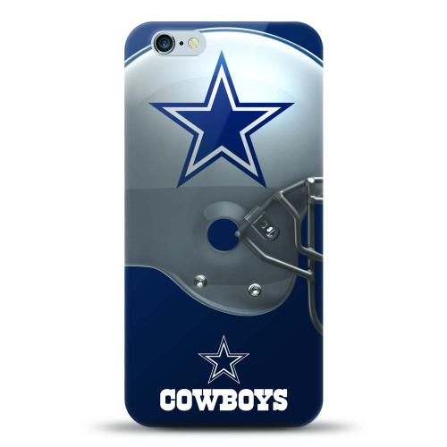 [MIZCO] Apple iPhone 6/6S (4.7 inch) Case, Helmet Series NFL Licensed [Dallas Cowboys] Slim & Flexible Anti-shock Crystal Silicone Protective TPU Gel Skin Case Cover