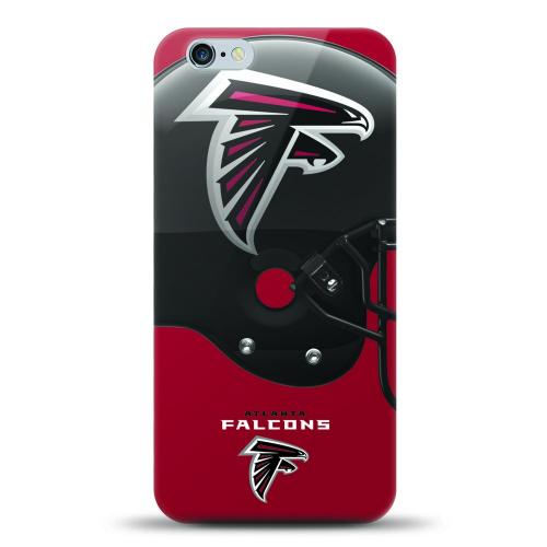 [MIZCO] Apple iPhone 6/6S (4.7 inch) Case, Helmet Series NFL Licensed [Atlanta Falcons] Slim & Flexible Anti-shock Crystal Silicone Protective TPU Gel Skin Case Cover
