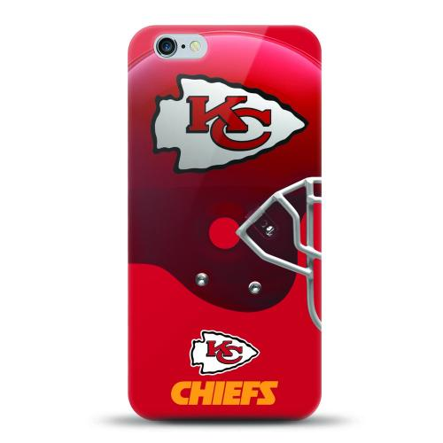 [MIZCO] Apple iPhone 6/6S (4.7 inch) Case, Helmet Series NFL Licensed [Kansas City Chiefs] Slim & Flexible Anti-shock Crystal Silicone Protective TPU Gel Skin Case Cover