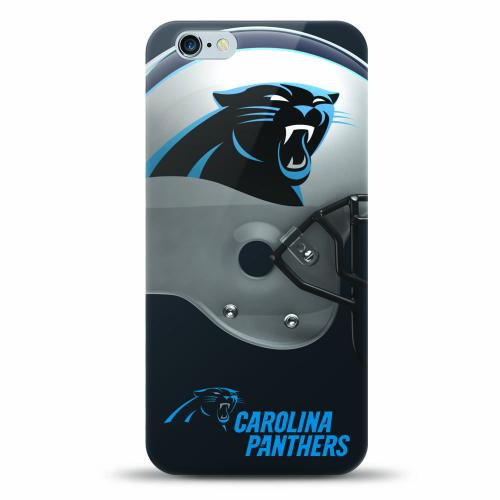 [MIZCO] Apple iPhone 6/6S (4.7 inch) Case, Helmet Series NFL Licensed [Carolina Panthers] Slim & Flexible Anti-shock Crystal Silicone Protective TPU Gel Skin Case Cover
