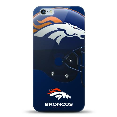 [MIZCO] Apple iPhone 6/6S Plus (5.5 inch) Case, Helmet Series NFL Licensed [Denver Broncos] Slim & Flexible Anti-shock Crystal Silicone Protective TPU Gel Skin Case Cover
