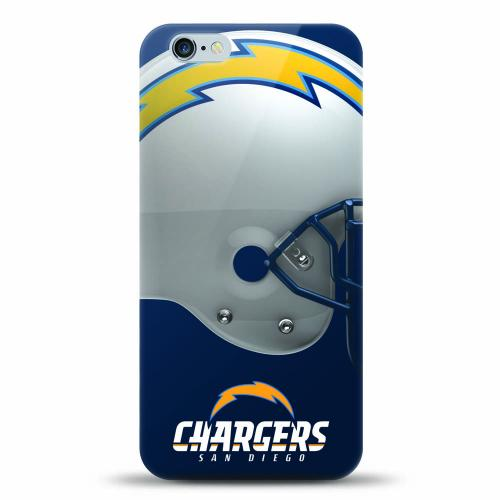 [MIZCO] Apple iPhone 6/6S Plus (5.5 inch) Case, Helmet Series NFL Licensed [San Diego Chargers] Slim & Flexible Anti-shock Crystal Silicone Protective TPU Gel Skin Case Cover