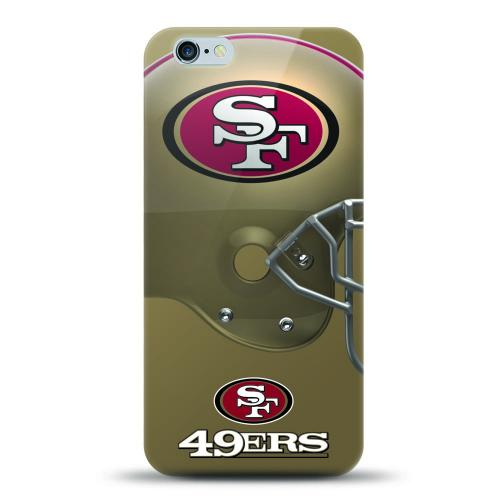 [MIZCO] Apple iPhone 6/6S Plus (5.5 inch) Case, Helmet Series NFL Licensed [San Francisco 49ers] Slim & Flexible Anti-shock Crystal Silicone Protective TPU Gel Skin Case Cover