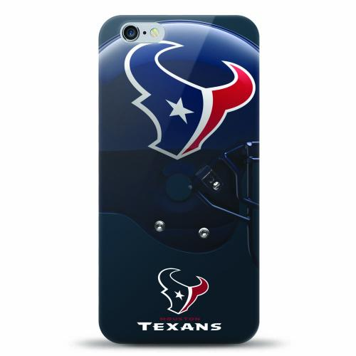 [MIZCO] Apple iPhone 6/6S Plus (5.5 inch) Case, Helmet Series NFL Licensed [Houston Texans] Slim & Flexible Anti-shock Crystal Silicone Protective TPU Gel Skin Case Cover