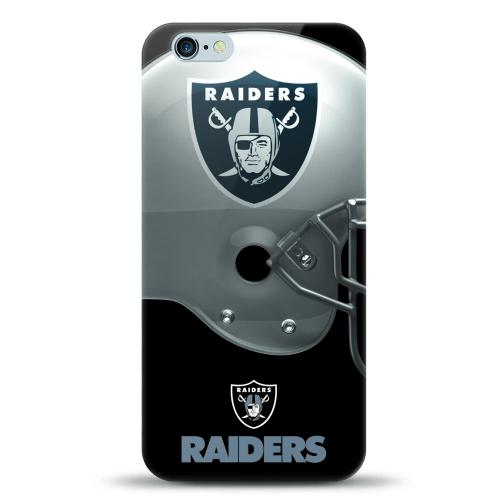 [MIZCO] Apple iPhone 6/6S (4.7 inch) Case, Helmet Series NFL Licensed [Oakland Raiders] Slim & Flexible Anti-shock Crystal Silicone Protective TPU Gel Skin Case Cover