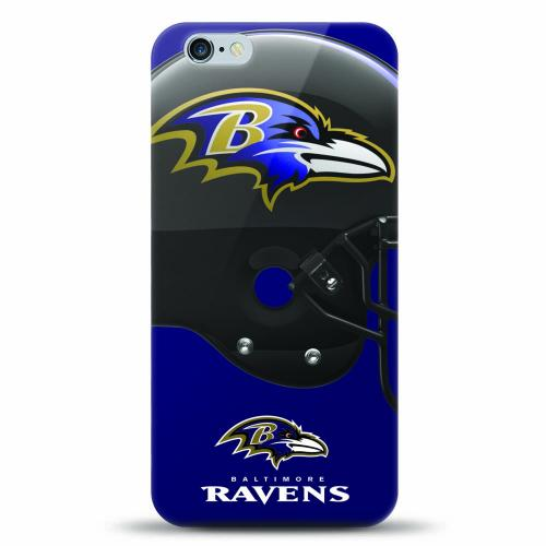 [MIZCO] Apple iPhone 6/6S (4.7 inch) Case, Helmet Series NFL Licensed [Baltimore Ravens] Slim & Flexible Anti-shock Crystal Silicone Protective TPU Gel Skin Case Cover