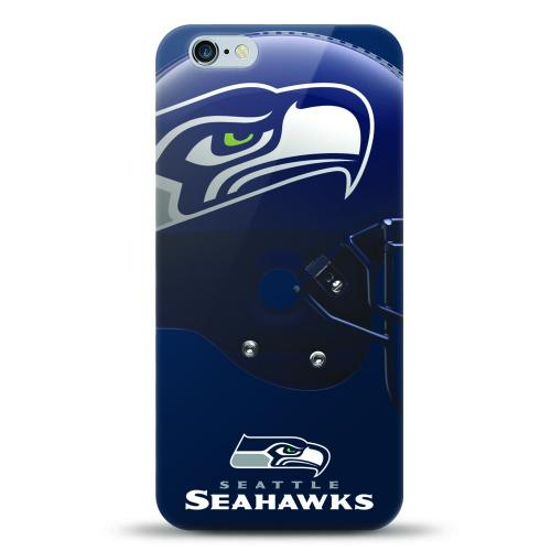 [MIZCO] Apple iPhone 6/6S (4.7 inch) Case, Helmet Series NFL Licensed [Seattle Seahawks] Slim & Flexible Anti-shock Crystal Silicone Protective TPU Gel Skin Case Cover