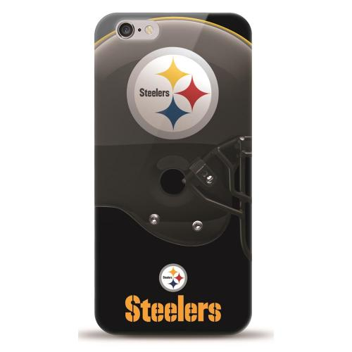 [MIZCO] Apple iPhone 6/6S (4.7 inch) Case, Helmet Series NFL Licensed [Pittsburgh Steelers] Slim & Flexible Anti-shock Crystal Silicone Protective TPU Gel Skin Case Cover