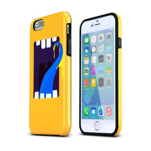 Apple iPhone 6/ 6S Case,  [Yellow] Happy Monster Slim & Flexible Anti-shock Crystal Silicone Protective TPU Gel Skin Case Cover