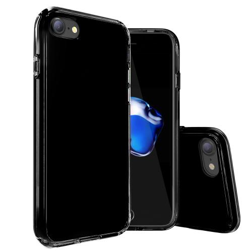[Apple iPhone 7] (4.7 inch) Case, REDshield [Black] Slim & Flexible Anti-shock Crystal Silicone Protective TPU Gel Skin Case Cover