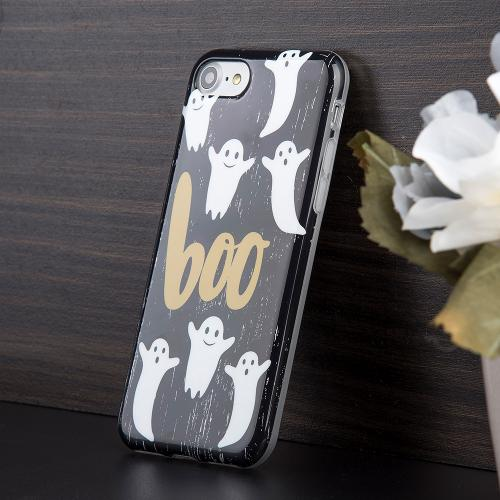 [Apple Phone 7] (4.7 inch) Case, Slim & Flexible Anti-shock Crystal Silicone Protective TPU Gel Skin Case Cover [Boo Ghosts]