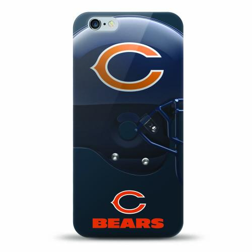 [MIZCO] Apple iPhone 7 (4.7 inch) Case, Helmet Series NFL Licensed [Chicago Bears] Slim & Flexible Anti-shock Crystal Silicone Protective TPU Gel Skin Case Cover