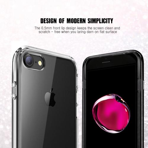 Apple Phone 7 (4.7 inch) Case, REDshield [Clear] Slim & Flexible Anti-shock Crystal Silicone Protective TPU Gel Skin Case Cover