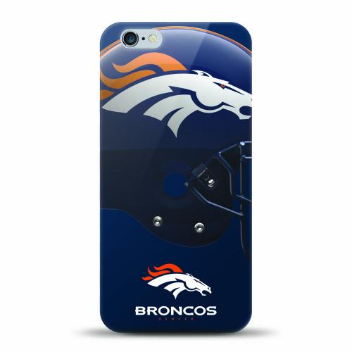 [MIZCO] Apple iPhone 7 (4.7 inch) Case, Helmet Series NFL Licensed [Denver Broncos] Slim & Flexible Anti-shock Crystal Silicone Protective TPU Gel Skin Case Cover