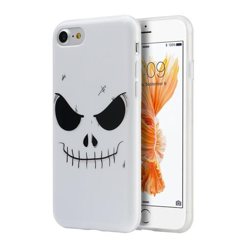 Apple Phone 7 (4.7 inch) Case, Slim & Flexible Anti-shock Crystal Silicone Protective TPU Gel Skin Case Cover [Evil Mind Face]