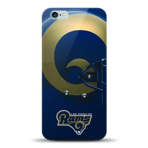 [MIZCO] Apple iPhone 7 (4.7 inch) Case, Helmet Series NFL Licensed [Los Angeles Rams] Slim & Flexible Anti-shock Crystal Silicone Protective TPU Gel Skin Case Cover