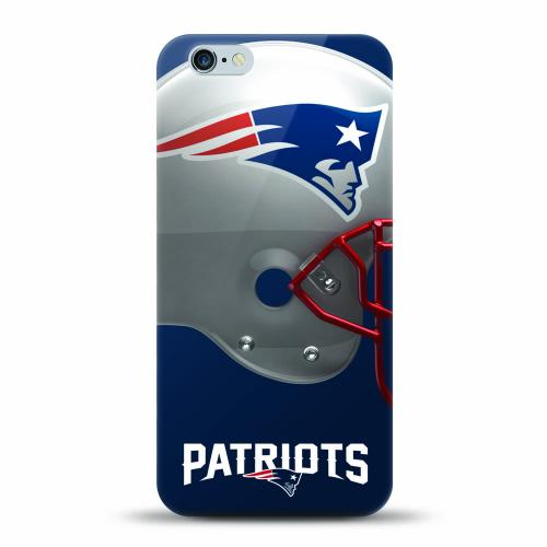 [MIZCO] Apple iPhone 7 (4.7 inch) Case, Helmet Series NFL Licensed [New England Patriots] Slim & Flexible Anti-shock Crystal Silicone Protective TPU Gel Skin Case Cover