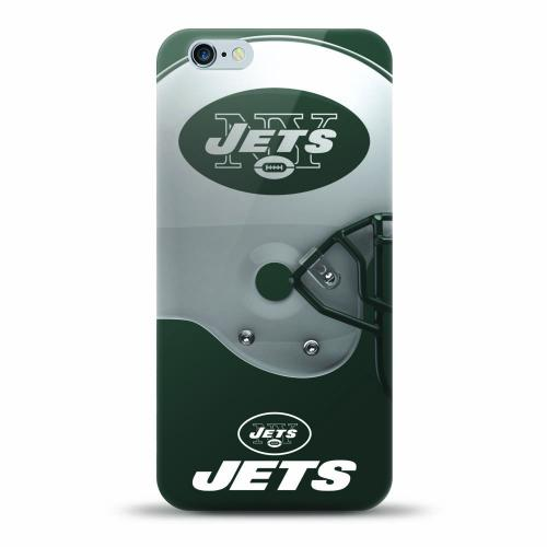 [MIZCO] Apple iPhone 7 (4.7 inch) Case, Helmet Series NFL Licensed [New York Jets] Slim & Flexible Anti-shock Crystal Silicone Protective TPU Gel Skin Case Cover