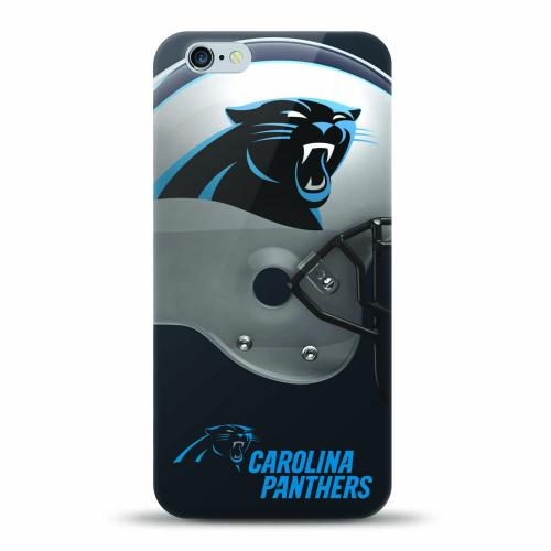 [MIZCO] Apple iPhone 7 (4.7 inch) Case, Helmet Series NFL Licensed [Carolina Panthers] Slim & Flexible Anti-shock Crystal Silicone Protective TPU Gel Skin Case Cover
