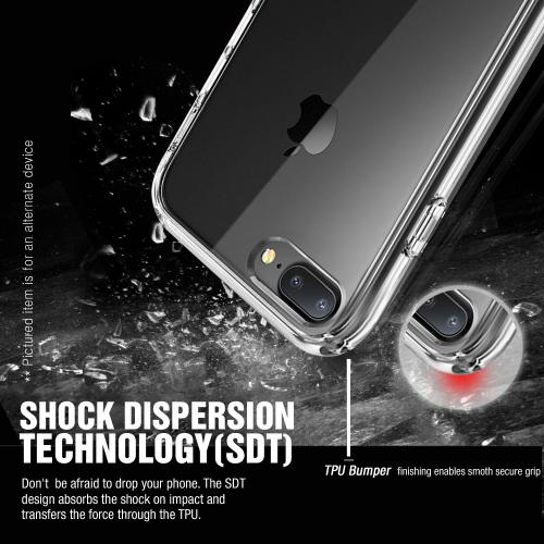 Apple iPhone 7 Plus (5.5 inch) Case, REDshield [Black] Slim & Flexible Anti-shock Crystal Silicone Protective TPU Gel Skin Case Cover