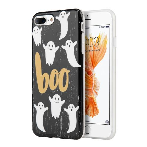 [Apple Phone 7 Plus] (5.5 inch) Case, Slim & Flexible Anti-shock Crystal Silicone Protective TPU Gel Skin Case Cover [Boo Ghosts]