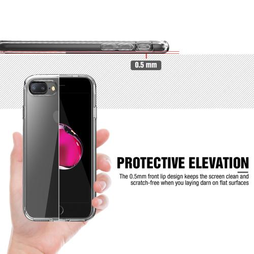 [Apple iPhone 7 Plus] (5.5 inch) Case, REDshield [Clear] Slim & Flexible Anti-shock Crystal Silicone Protective TPU Gel Skin Case Cover