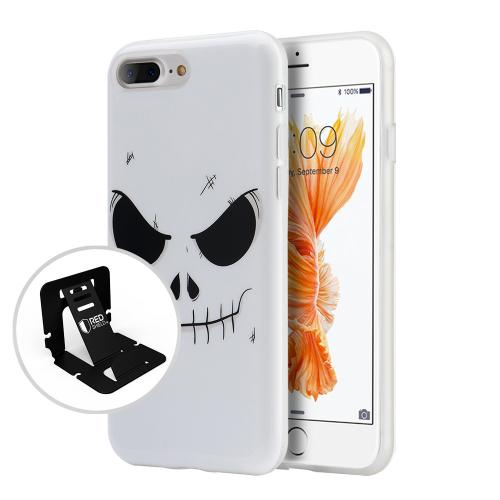Apple Phone 7 Plus (5.5 inch) Case, Slim & Flexible Anti-shock Crystal Silicone Protective TPU Gel Skin Case Cover [Evil Mind Face]