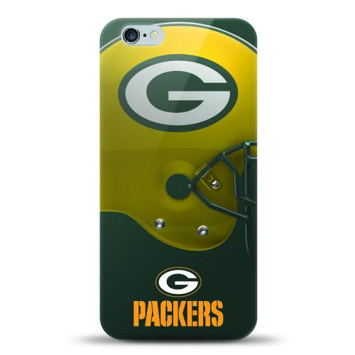 [MIZCO] Apple iPhone 7 Plus (5.5 inch) Case, Helmet Series NFL Licensed [Green Bay Packers] Slim & Flexible Anti-shock Crystal Silicone Protective TPU Gel Skin Case Cover