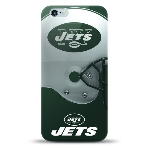 [MIZCO] Apple iPhone 7 Plus (5.5 inch) Case, Helmet Series NFL Licensed [New York Jets] Slim & Flexible Anti-shock Crystal Silicone Protective TPU Gel Skin Case Cover