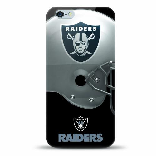 [MIZCO] Apple iPhone 7 Plus (5.5 inch) Case, Helmet Series NFL Licensed [Oakland Raiders] Slim & Flexible Anti-shock Crystal Silicone Protective TPU Gel Skin Case Cover