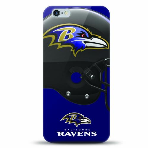 [MIZCO] Apple iPhone 7 Plus (5.5 inch) Case, Helmet Series NFL Licensed [Baltimore Ravens] Slim & Flexible Anti-shock Crystal Silicone Protective TPU Gel Skin Case Cover