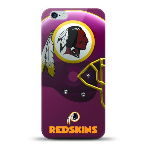 [MIZCO] Apple iPhone 7 Plus (5.5 inch) Case, Helmet Series NFL Licensed [Washington Redskins] Slim & Flexible Anti-shock Crystal Silicone Protective TPU Gel Skin Case Cover