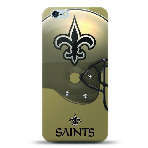 [MIZCO] Apple iPhone 7 Plus (5.5 inch) Case, Helmet Series NFL Licensed [New Orleans Saints] Slim & Flexible Anti-shock Crystal Silicone Protective TPU Gel Skin Case Cover