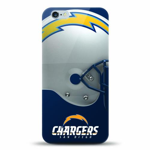 [MIZCO] Apple iPhone 7 Plus (5.5 inch) Case, Helmet Series NFL Licensed [San Diego Chargers] Slim & Flexible Anti-shock Crystal Silicone Protective TPU Gel Skin Case Cover