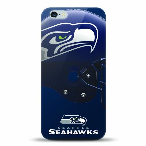 [MIZCO] Apple iPhone 7 Plus (5.5 inch) Case, Helmet Series NFL Licensed [Seattle Seahawks] Slim & Flexible Anti-shock Crystal Silicone Protective TPU Gel Skin Case Cover