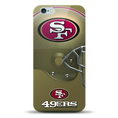 [MIZCO] Apple iPhone 7 Plus (5.5 inch) Case, Helmet Series NFL Licensed [San Francisco 49ers] Slim & Flexible Anti-shock Crystal Silicone Protective TPU Gel Skin Case Cover