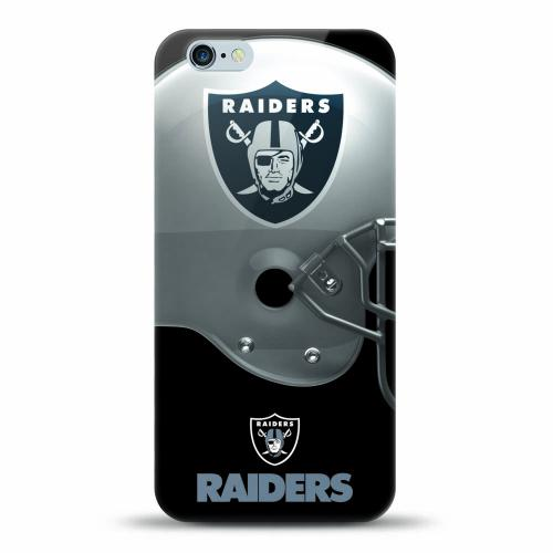 [MIZCO] Apple iPhone 7 (4.7 inch) Case, Helmet Series NFL Licensed [Oakland Raiders] Slim & Flexible Anti-shock Crystal Silicone Protective TPU Gel Skin Case Cover