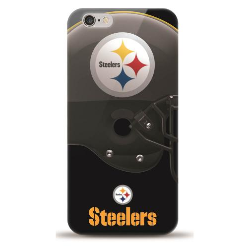[MIZCO] Apple iPhone 7 (4.7 inch) Case, Helmet Series NFL Licensed [Pittsburg Steelers] Slim & Flexible Anti-shock Crystal Silicone Protective TPU Gel Skin Case Cover