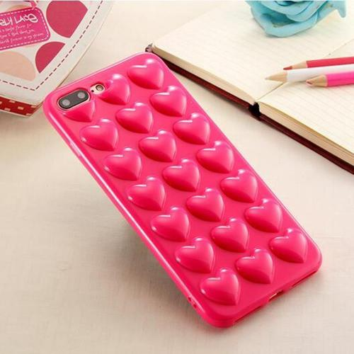 Apple redshield] Iphone 8/7 Plus 3d Tpu Case, [hot Pink H...
