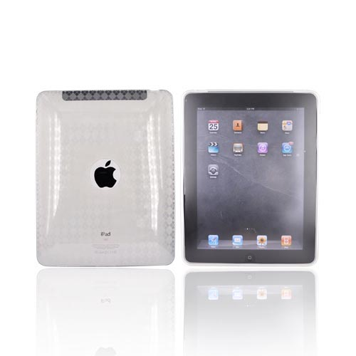 Apple iPad 1st Gen Crystal Silicone Case - Argyle Clear