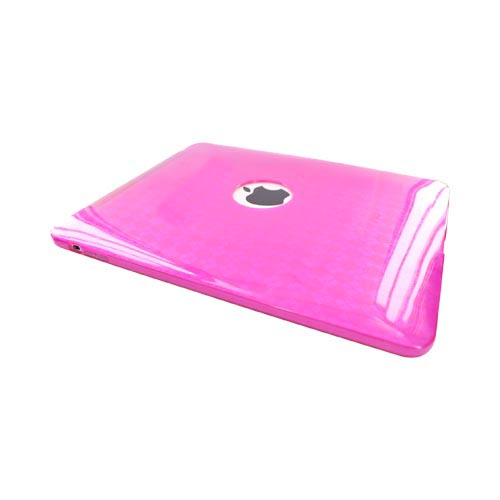 Apple iPad 1st Gen Crystal Silicone Case - Argyle Hot Pink