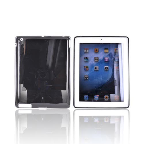 Apple iPad  (2nd & 3rd Gen) Crystal Silicone Case - Black