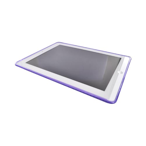 Apple iPad (2nd & 3rd Gen.) Crystal Silicone Case - Circles on Purple