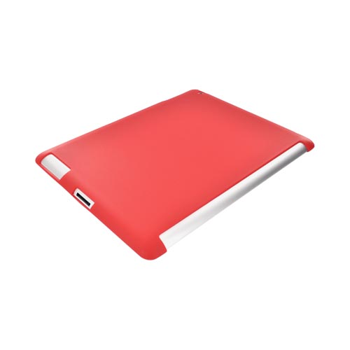 Apple iPad 2/ New iPad Crystal Silicone Case - Red