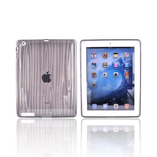 Manufacturers Apple iPad 2 Crystal Silicone Case - Wood Design on Smoke Cases