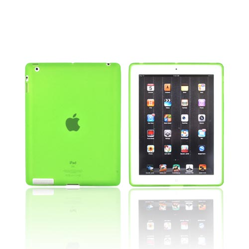 Apple iPad 2, New iPad Crystal Silicone Case - Lime Green
