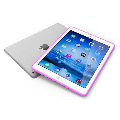 Hot Pink Anti-Slip TPU Crystal Silicone Skin Case for Apple iPad Air