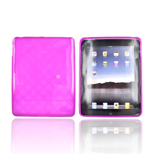 Apple iPad (1st Gen) 1st Crystal Silicone Case - Purple Argyle Diamonds