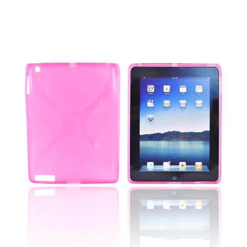 Apple iPad 2/ New iPad Crystal Silicone Case - X Hot Pink